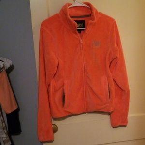 Jackets & Blazers - Highlighter orange fleece (PINK) with gray trims
